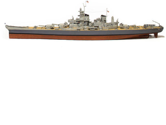 highly detailed 9ft model of Battleship USS Missouri