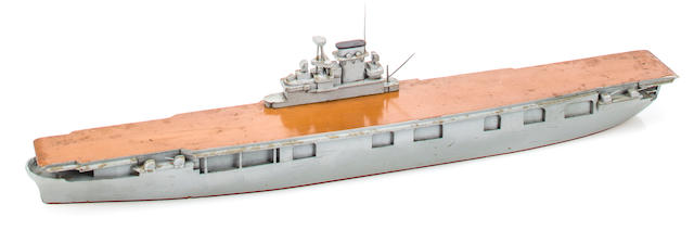 A rare waterline Imperial Japanese recognition ship model of the U.S.S. Enterprise  before 1941 17-1/2 in. (44.4 cm.) length.