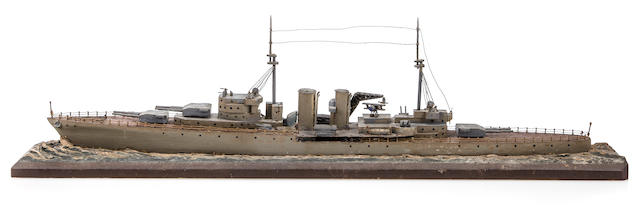 sailor shipboard model of Royal navy cruiser