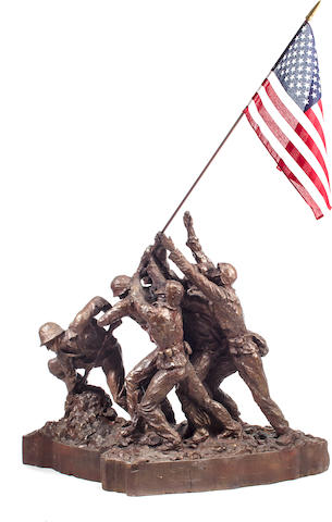 Felix de Weldon (American 1903-2006) The original plaster maquette for the 1945 Iwo Jima Monument March to June 1945 Height 48 in. (121.9 cm.)