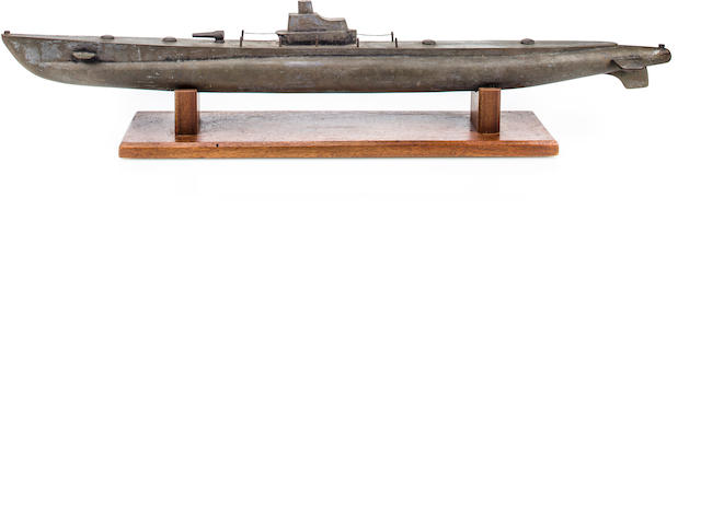 Gigantic WWII sold bronze gato class sub model (3/35)
