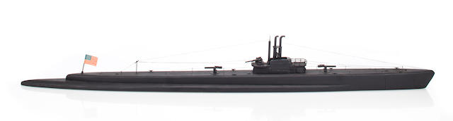WWII USN tench class submarine school instructor's model (3/40)