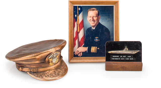 A group of items related to U.S.S. Barb submarine ace Gene Fluckey circa 1940