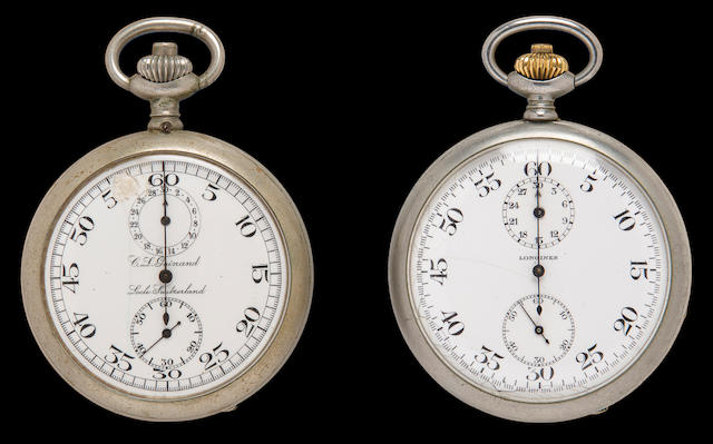 Two USN WWII torpedo timing stopwatches (3/59)