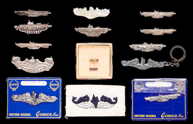 Collection of USN WWII Submariner's Qualification & Combat Patrol Badges with a H&H Co. Steel Die for making badges (3/56)