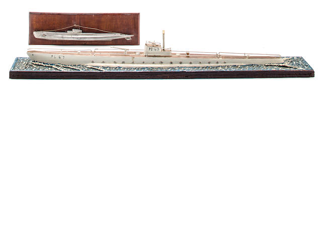 Two WWII Imperial Japanese Navy Submarine Models