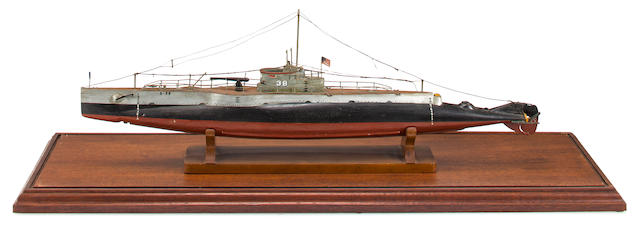 WWII USN Submarine Model of S-38 (3/37)