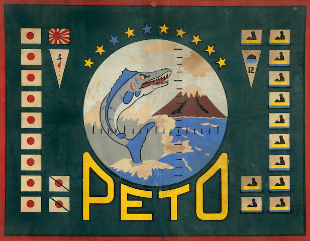 Bonhams : The battle flag from the submarine U S S  Peto (SS-265) 23