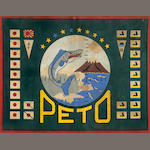 PETO flag, framed