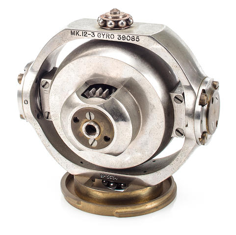 A U.S. Navy Mark 12, Type 3 submarine torpedo gyroscope  circa 1944 4-1/2 x 4-3/4 in. (11.4 x 12 cm.) the gyroscope.