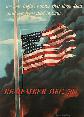 Allen Saalburg (American, 1899-1987); Remember Dec. 7th! ;
