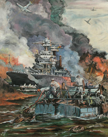 USS Arizona painting