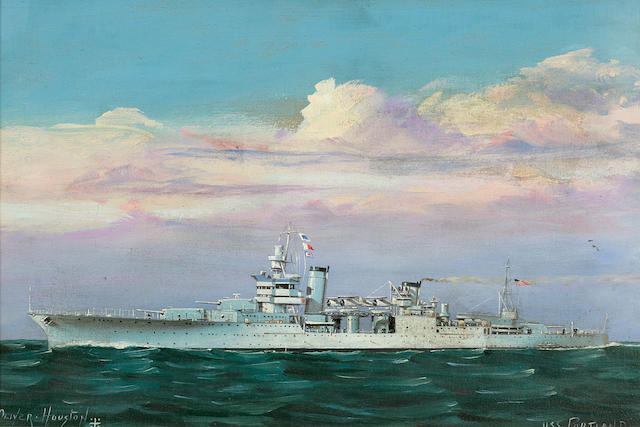 USS Portland painting