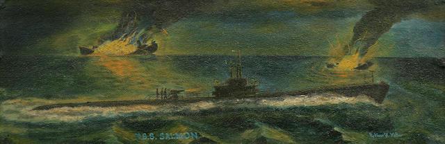 USS Salmon sub painting