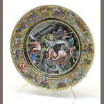 A Limoges enamel on copper plate in the Renaissance style 19th century