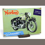 Eleven litho-tin trade signs for Pepsi-Cola, Motorcycles and Fishing