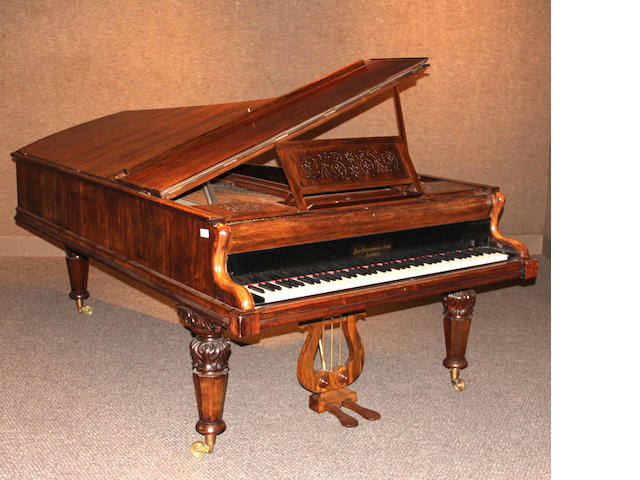 A John Broadwood & Sons rosewood grand piano<BR />serial no.521821 second half 19th century