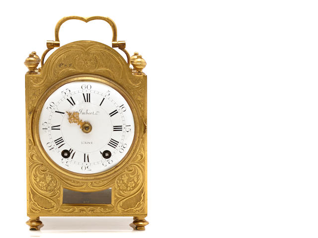 A French gilt bronze carriage clock
