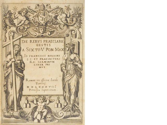 BORDONI. De Rebus Praeclare... 1588