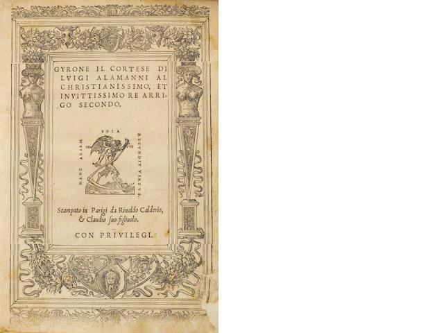 ALAMANNI. Gyronne il Cortese. 1548.