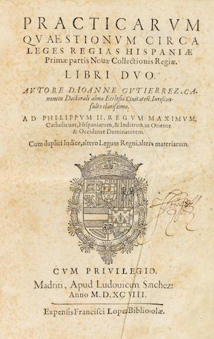 Catholicum, Hispaniarum, Indiarum in Oriente. 1588 2 vols in 1.