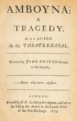 DRYDEN, JOHN. 1. Marriage A-la-Mode. A Comedy. London: Henry Herringman, 1673.