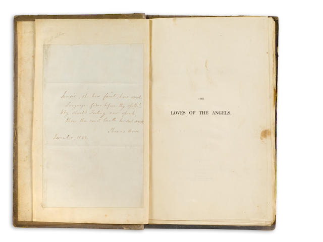 MOORE, THOMAS. Loves of the Angels. w/ 3 ALS and Autograph Poem