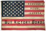 """Buy Victory Bonds - Remember Pearl Harbor"" U.S. flag"