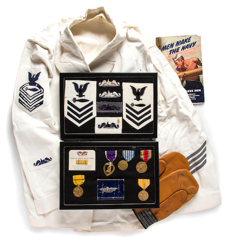 A U.S.S. Tang submariner's uniform and posthumous Purple Heart group  circa 1944