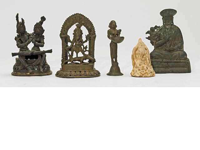 A group of Indian and Himalayan bronzes