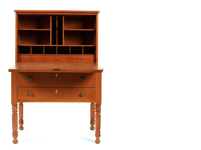 A late Federal fruitwood secretary