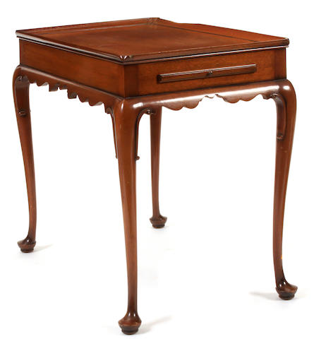 A George II style mahogany silver table