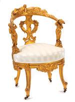 An Italian Rococo style giltwood armchair