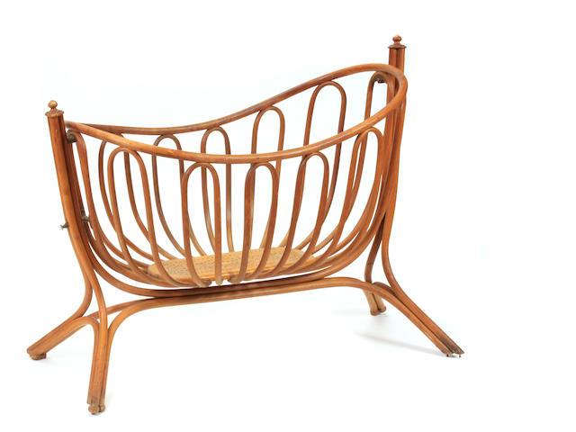 An Art Nouveau bentwood child's cradle possibly Thonet, late 19th/early 20th century