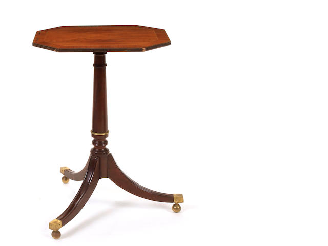 A George III style inlaid tilt top side table