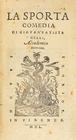 GELLI. la Sporta Comedia. 1550.