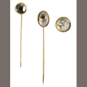 Group of 2 stick pins and one button pin