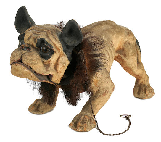 French late 19th/early 20th century papier maché growler Bulldog