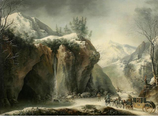 Francesco Foschi (Ancona 1710-1780 Rome) A rocky winter landscape