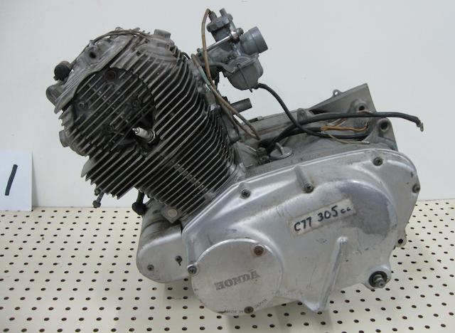 A C-77 Honda Dream touring engine,