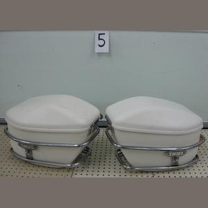 A set of SHOEI fiberglass saddlebags,