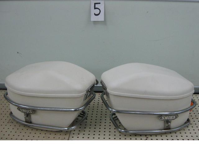 A set of SHOEI fiberglass saddlebags,