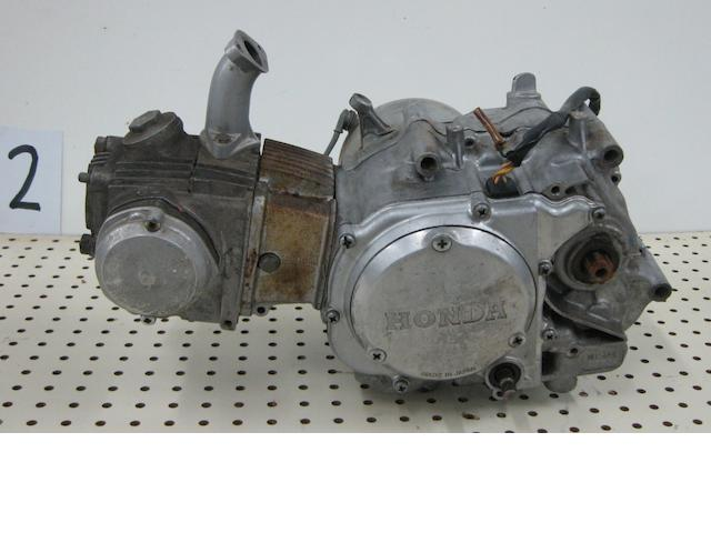 A Honda Super 90 engine,