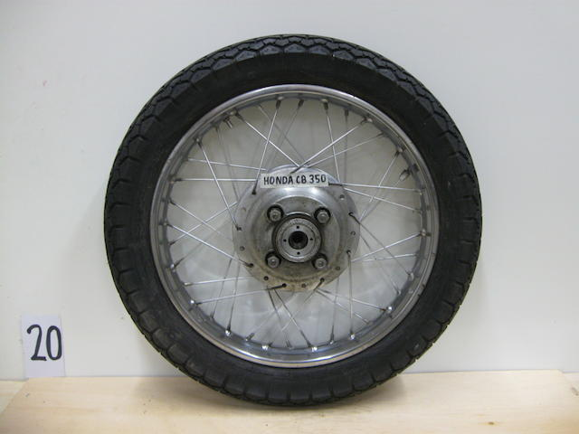 A pair of Honda CB350 rear wheels,