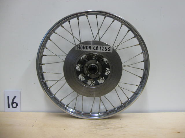 A mixed lot of 70s era Honda wheels,