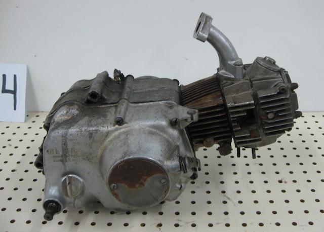 A Honda CL 70 scrambler engine,