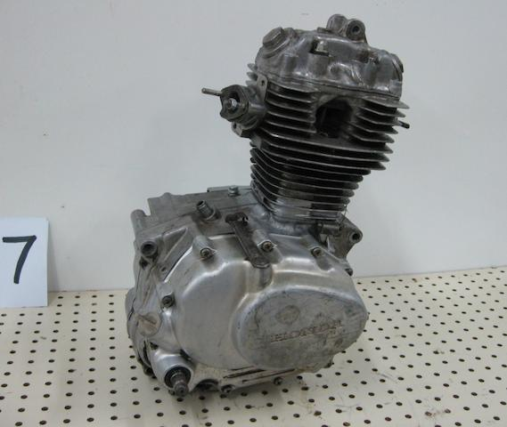 A Honda XL 100 engine,