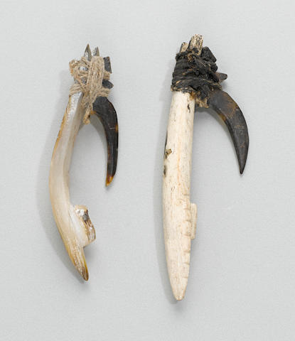 Two Composite Fish Hooks, Papua New Guinea