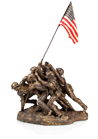 Felix de Weldon (American 1907-2003)  The original plaster maquette for the Marine Corps War Memorial in Arlington 1946