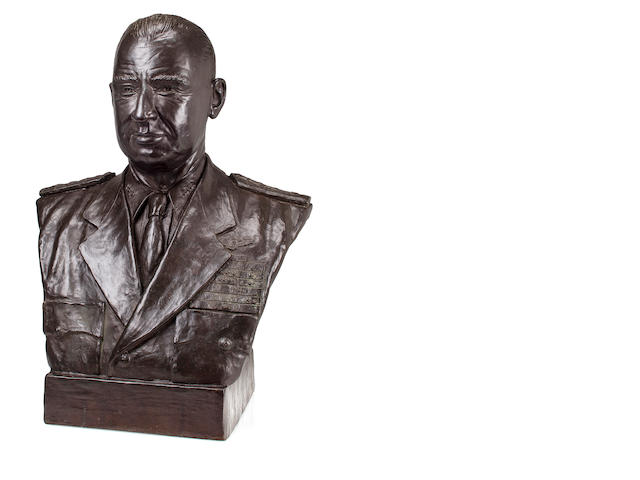 Bronze bust of Jocko Clark